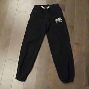 Girls black roots pants